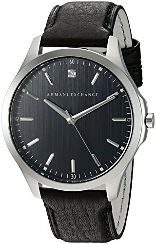 Armani-Exchange-Mens-AX2182-Black-leather-Watch