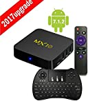 TV Box, Android 7.1 Smart TV Box MX10 RK3328 Quad Core 4GB RAM 32GB ROM Supports 4K 1080P Ultimate HD Game Player with Keyboard