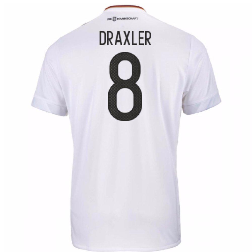 2017-18 Germany Home Football Soccer T-Shirt Trikot (Julian Draxler 8)