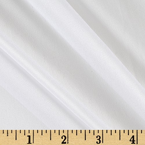 100% Silk Chiffon White Fabric By The Yard (Fabric Chiffon Silk)