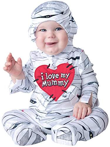 UHC Baby Boy's I Love My Mummy Outfit Funny Theme Infant Halloween Costume, 12-18M