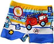Blue Boy Leg Swim Shorts for Kids Cartoon Cartoon Car Swim Trunk, 3-5 Years Old