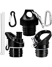 Standard Mouth Straw Lid and Sport Cap 3PC Replacement for Hydro Flask 12, 18, 21, 24OZ and Simple Modern Ascent Narrow Mouth Bottle