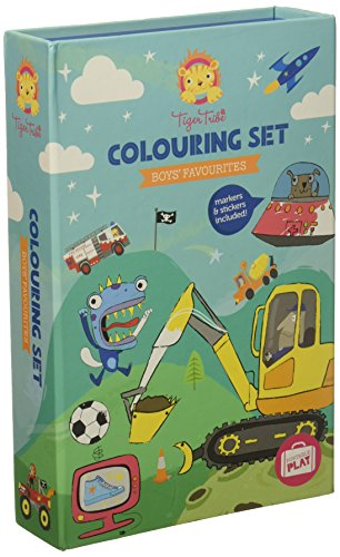 Child Tiger - Tiger Tribe Colouring Set, Boys Favorites Arts and Crafts Kit