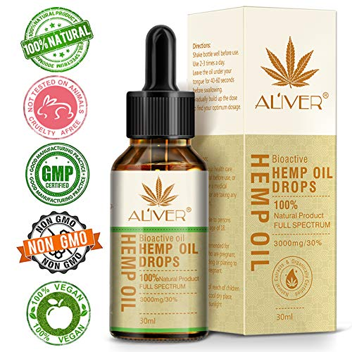 Hemp Oil for Pain Anxiety Relief Best Natural Hemp Seed Oil - Premium Colorado Seed Extract - Only Natural Ingredients - for Pain and Inflammation Relief, Reduces Stress and Anxiety