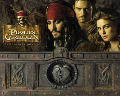 (Pirates of the Caribbean 2008 Wall Calendar Special Edition )
