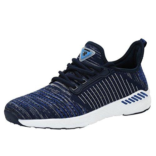 Affinest Chaussures De Course Pour Hommes Femmes Respirant Slip Sur Espadrilles Pour La Marche Fitness Pantoufles Cross-training Bleu