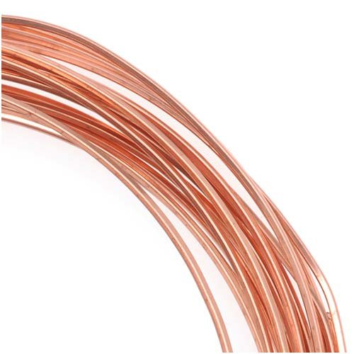 Copper Square Craft Bead Wire 21Ga (21Ft) Beadsmith 4336834245