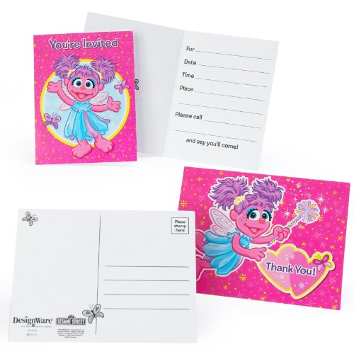Abby Cadabby Invitations and Thank-You Notes (8 each) (Sesame Street Abby Cadabby Halloween Costume)