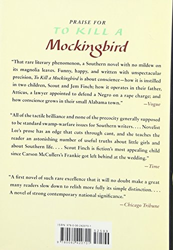 instilling conscience to kill a mockingbird In this passage from harper lee's to kill a mockingbird (1960), atticus finch, my favorite fictional character, expresses his views on conscience.