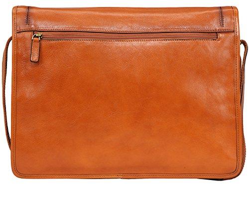 Banuce Vintage Leather Messenger Bag for Men 14 Laptop Business Crossbody Shoulder Satchel Bag by Banuce (Image #2)