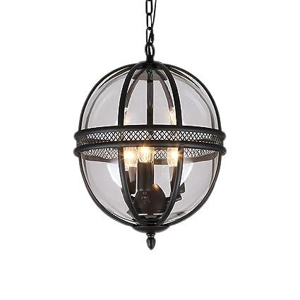 3-Lights E14 lámparas negras de la vendimia con la lámpara ...