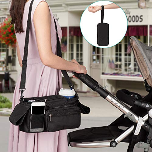 Amazon.com: Universal Stroller Organizer with Insulated Cup Holder by Momcozy - Detachable Phone Bag & Shoulder Strap, Fits for Stroller like Uppababy, ...