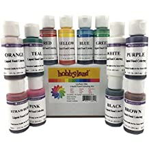 Hobbyland LorAnn Oils Food Coloring Kits (Liquid Food Color Kit, 12 Colors, 1oz Bottles)