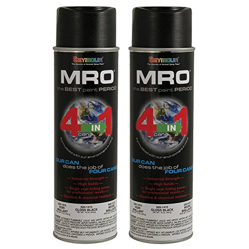 Seymour Spray Paint, Gloss Black MRO Industrial Enamel Paint, 20 Fluid oz. Can (2) from Seymour