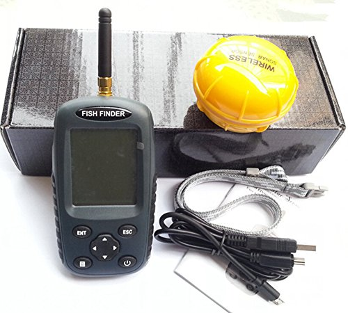 Cutepet Fischfinder Portable Angeln Sonar Sensor Wasserdicht Beweglicher LCD Tiefe Finder Fisch Locator TF-8430