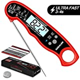 GDEALER DT15 Waterproof Digital Instant Read Meat Thermometer Ultra-FAST Cooking food Thermometer with 4.6' Folding Probe Calibration Function for Kitchen Milk Candy, BBQ Grill, Smokers