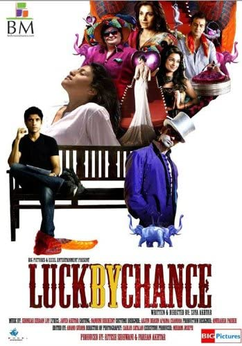 Amazon.com: Luck by Chance 11 x 17 Movie Poster - Indian Style A:  Lithographic Prints: Posters & Prints