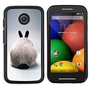 Stuss Case / Funda Carcasa protectora - Rabbit Ears Hare conejito blanco peludo gris - Motorola Moto E ( 1st Generation )