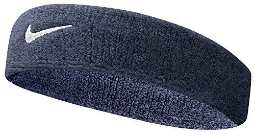 Nike Swoosh Headband (Obsidian/White, Osfm) (Basketball Head Ties compare prices)
