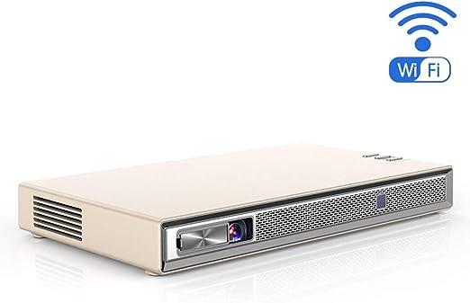NCBH Mini proyector, Pocket 3D DLP WiFi Proyector Home HD 4K ...