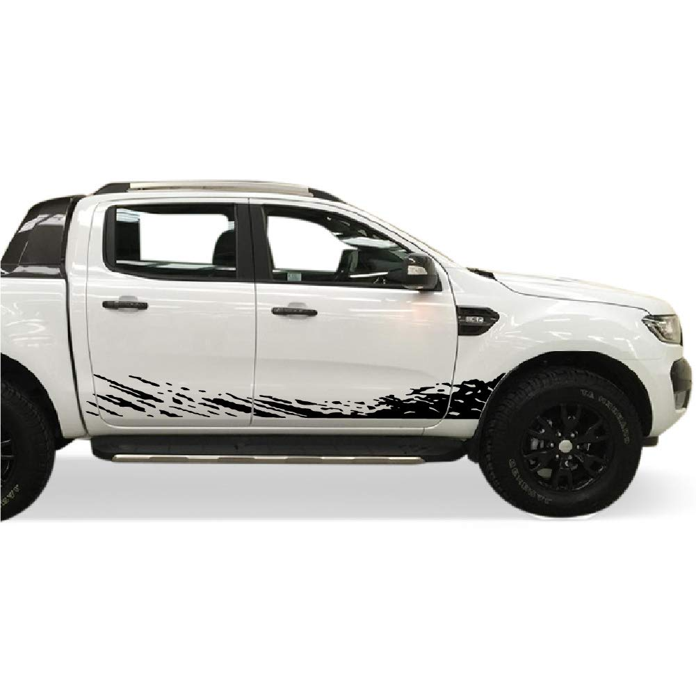 Amazon com bubbles designs decal sticker vinyl mud splash kit compatible with ford ranger t6 2011 2017 black automotive