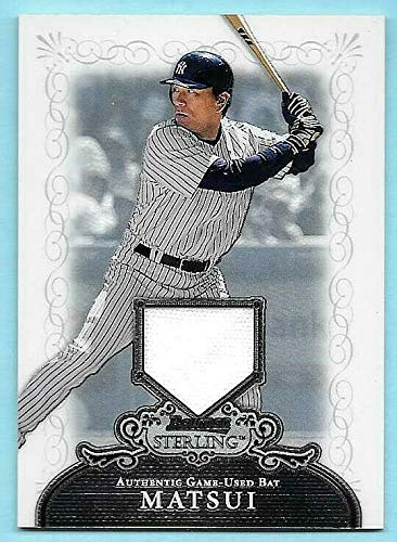 2006 Bowman Sterling #HM Hideki Matsui Game Worn Jersey Card - Hideki Matsui Game