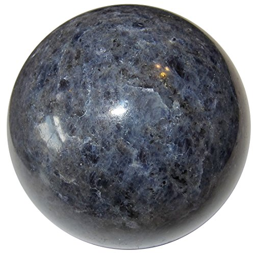Dumortierite Ball 11 Blue Quartz Crystal Sphere Third Eye Awakening Trance Stone Sphere 2.5
