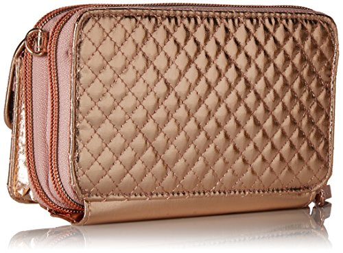 Vera Bradley Iconic Rfid All in One Crossbody, Foiled Cotton, Rose Gold Shimmer by Vera Bradley (Image #2)