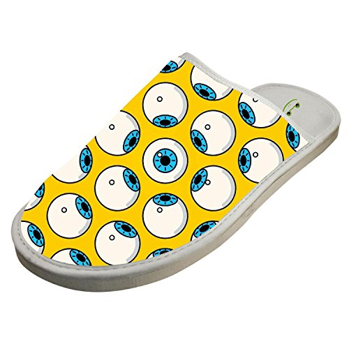 Jane-LEE Halloween wallpaper House Slippers/Cotton Slippers/Flat Shoes/Indoor Slippers 8 D(M) US -