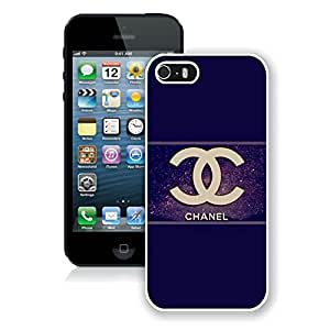 Hot Sale iPhone 5 Case ,Chanel 63 White Phone Case For iPhone 5 Cover Unique And Fashion Designed