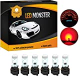 LED Monster 6 x T5 5 SMD Red + 6 x T5 Twist Lock Instrument Panel LED Light Gauge Cluster Dashboard Indicator Lamp Bulb with Twist Sockets for GMC Savana 1500 2500 3500 Yukon XL 1500