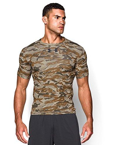 Under Armour Hombre UA Libertad Woodland Stealth Camo Camiseta de compresión COYOTE BROWN