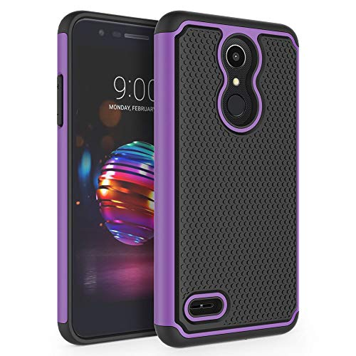 Case for LG K10 2018 / LG K30 / LG Premier Pro LTE/LG K10 Alpha/LG Harmony 2 / LG Phoenix Plus, SYONER [Shockproof] Defender Protective Phone Case Cover [Purple]