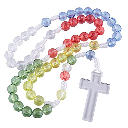 Multicolored Mission Cord Rosary, 14 1/2 inch ()
