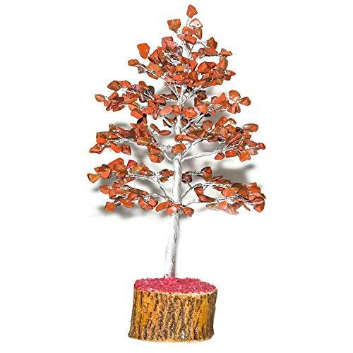 Red Jasper Gemstone Tree Feng Shui Bonsai Natural Crystal for Fortune Money Good Luck Reiki Healing Chakra Balancing Spiritual Home Office Decor Size: 10 - Jasper Inch 10