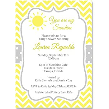 Amazon baby shower invitations spot of sunshine white yellow baby shower invitations spot of sunshine white yellow grey gender neutral filmwisefo
