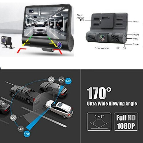 SPEED TRAP DETECTOR, 2018 NEW INNO 2 IN 1 RADAR DETECTOR, WITH HD DVR DASH CAM, 2 in 1 HD DASH CAM by SMART TECH by Smart Tech (Image #3)