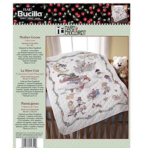 stamp cross stitch baby quilt - 5