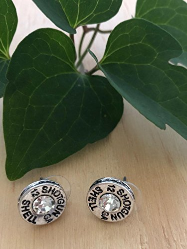 PammyJ Silvertone Simulated Bullet Shotgun Shell 12 GA Post Earrings by PammyJ Necklace (Image #2)