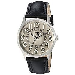 Bulova Men's Quartz Brass and Leather Dress Watch, Color:Black (Model: 96A147)