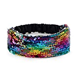 Mermaid Sequin Headband - Reversible Color Changing Flip Sequins Wide Headband for Baby,Girls,Children - Party Supplies,2 Pack (Multicolor)