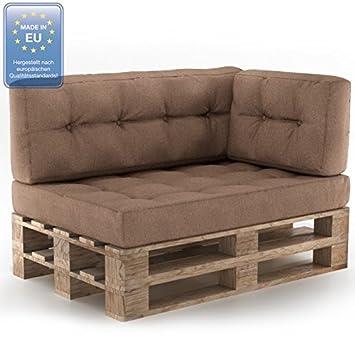 animalmarketonline Muebles de jardín juego de almohadas para pallet Asiento + Respaldo + cojines laterales + Retro Pardo: Amazon.es: Jardín