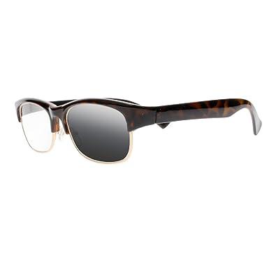 fe19e3037ee1 Amazon.com  Transition Photochromic Tortoise Acetate Nerd Geek Reading  Glasses UV400 Protect Sun Readers Sunglasses (Tortoise