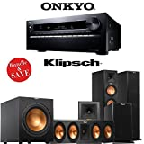 Onkyo TX-NR3030 11.2-Ch Dolby Atmos Ready Networking A/V Receiver + A Klipsch Reference Premiere Dolby Atmos Enabled 5.1 Speaker Package (RP-280FA + RP450CA + RP140SA + R112SW) by Onkyo