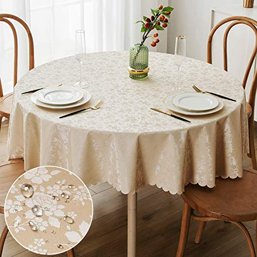 smiry Waterproof Vinyl Tablecloth, Rectangle Heavy Duty Table Cloth, Wipeable Table Cover for Kitchen and Dining Room