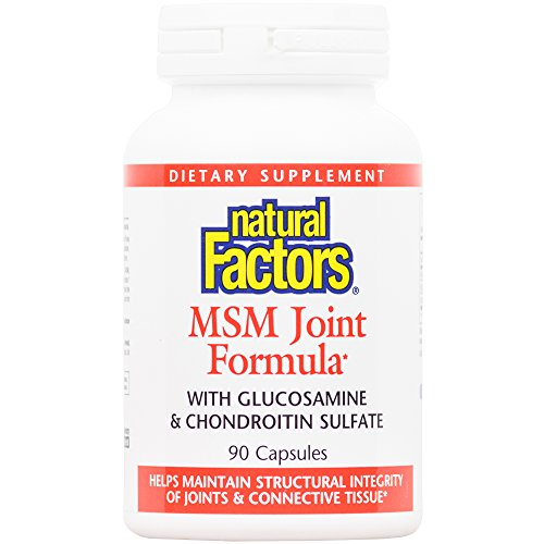 Natural Factors - MSM Joint Formula, Supports Structural Integrity of Joints & Connective Tissue, 90 Capsules