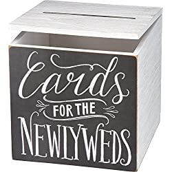 "Primitives by Kathy Wedding Card Box, 8"" x 8"" x 8"", Cards for Newlyweds"