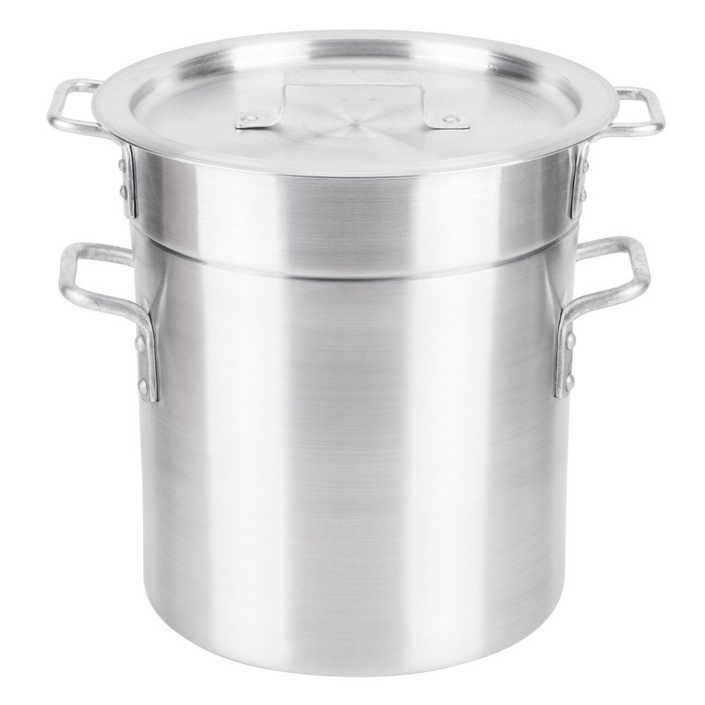 Royal Industries Double Boiler with Lid, 12 qt, 9.8'' x 9.4'' HT, Aluminum, Commercial Grade - NSF Certified