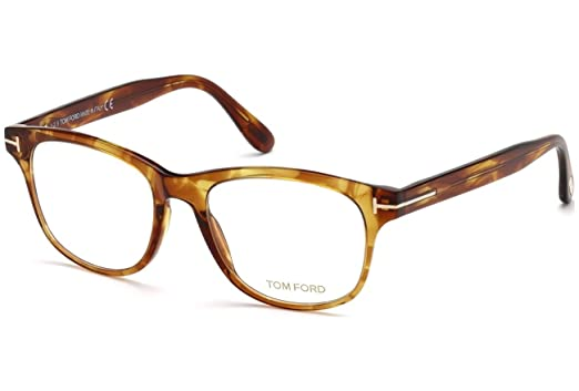 3f9a00c5a41a Image Unavailable. Image not available for. Color  Tom Ford Round Eyeglasses  TF5399 050 Transparent Brown ...